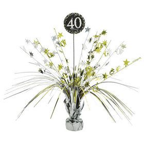 Sparkling Celebration 40th Birthday Spray Centerpiece (1)