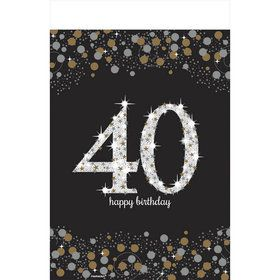 Sparkling Celebration 40th Birthday Table Cover (1)