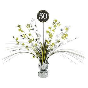 Sparkling Celebration 50th Birthday Spray Centerpiece (1)