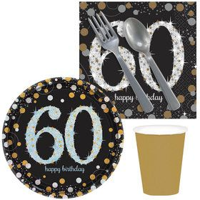 Sparkling Celebration 60th Birthday Snack Pack for 16
