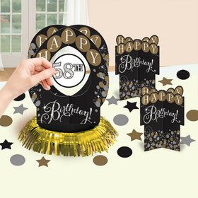 Sparkling Celebration Birthday Table Decorating Kit (51 Pieces)