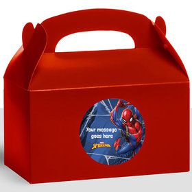 Spider-Man Personalized Treat Favor Boxes (12 Count)