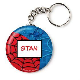 """Spider Personalized 2.25"""" Key Chain (Each)"""