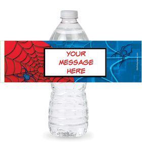 Spider Personalized Bottle Labels (Sheet of 4)