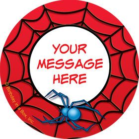 Spider Personalized Mini Stickers (Sheet of 24)