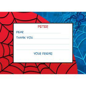 Spider Personalized Thank You Note (each)