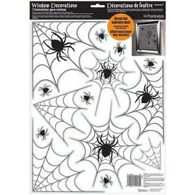 Spider Web Widow Cling Decorations