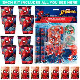 Spiderman Webbed Wonder Favor Kit (for 8 Guests)