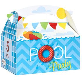 Splashin' Pool Party Empty Favor Boxes