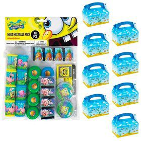 SpongeBob Filled Favor Box Kit (For 8 Guests)