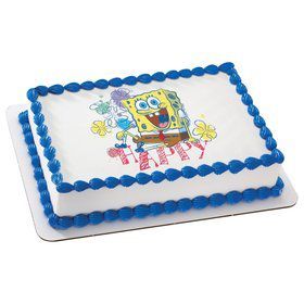 SpongeBob Quarter Sheet Edible Cake Topper (Each)