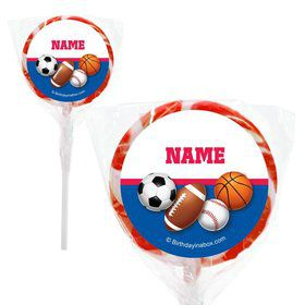 "Sports Birthday Personalized 2"" Lollipops (20 Pack)"