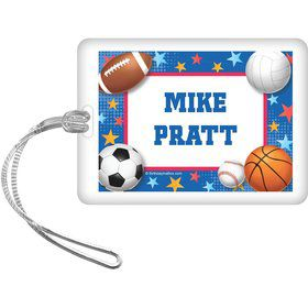 Sports Birthday Personalized Bag Tag (each)