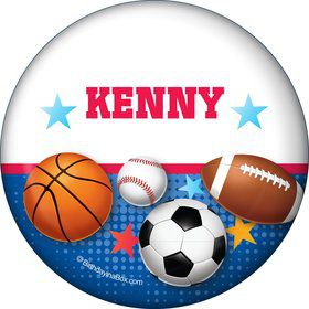 Sports Birthday Personalized Button (each)