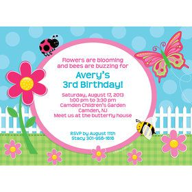 Garden Party Personalized Invitation (Each)