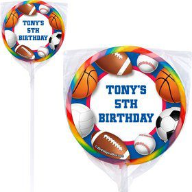Sports Birthday Personalized Lollipops (pack of 12)
