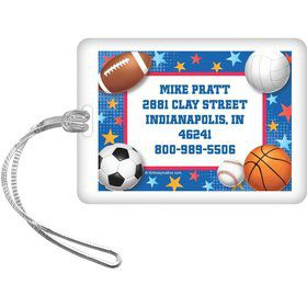 Sports Birthday Personalized Luggage Tag (each)