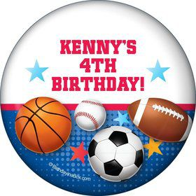 Sports Birthday Personalized Magnet (each)