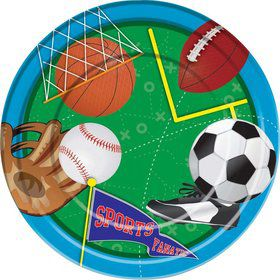 "Sports Party 9"" Luncheon Plates (8 Pack)"