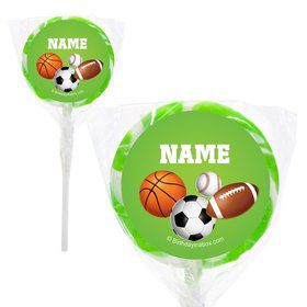 "Sports Party Personalized 2"" Lollipops (20 Pack)"