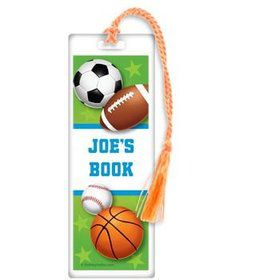Sports Party Personalized Bookmark (each)