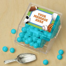 Sports Party Personalized Candy Bin with Candy Scoop (10 Count)