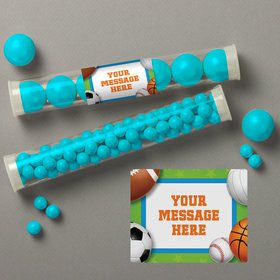 Sports Party Personalized Candy Tubes (12 Count)