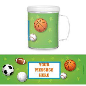 Sports Party Personalized Favor Mugs (Each)