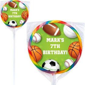 Sports Party Personalized Lollipops (pack of 12)