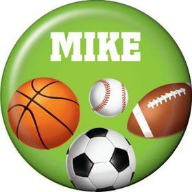 Sports Party Personalized Mini Button (each)