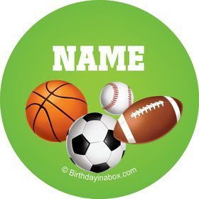 Sports Party Personalized Mini Stickers (Sheet of 24)