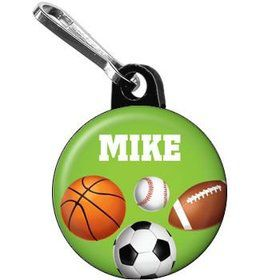 Sports Party Personalized Mini Zipper Pull (each)
