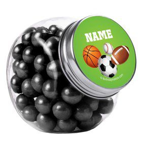 Sports Party Personalized Plain Glass Jars (12 Count)