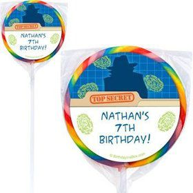 Spy Party Personalized Lollipops (pack of 12)