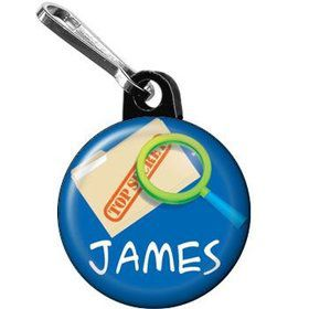 Spy Party Personalized Mini Zipper Pull (each)