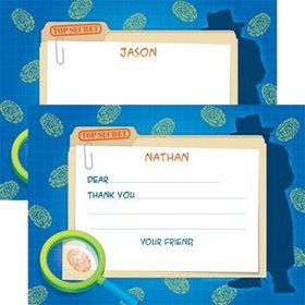 Spy Party Personalized Thank You Note (each)