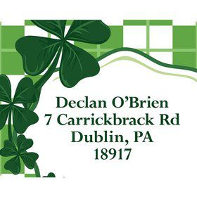 St. Patrick's Day Personalized Address Labels (Sheet of 15)