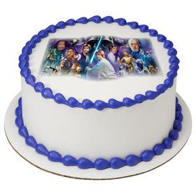 "Star Wars 7.5"" Round Edible Cake Topper (Each)"