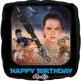 Star Wars 7 The Force Awakens Happy Birthday Foil Balloon