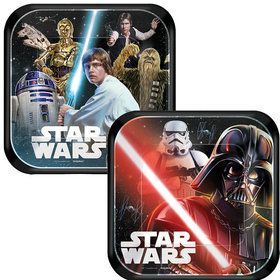 "Star Wars Classic 7"" Cake Plates (8 Count)"