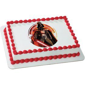 Star Wars Darth Vader Quarter Sheet Edible Cake Topper (Each)