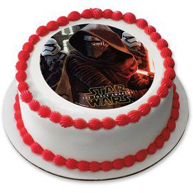 "Star Wars Episode VII - The Force Awakens 7.5"" Round Edible Cake Topper (Each)"