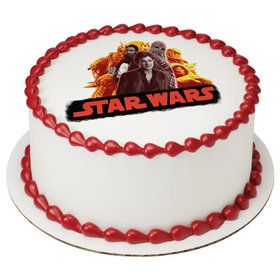 "Star Wars Han Solo 7.5"" Round Edible Cake Topper (Each)"