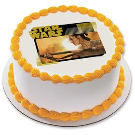 "Star Wars Rey 7.5"" Round Edible Cake Topper (Each)"