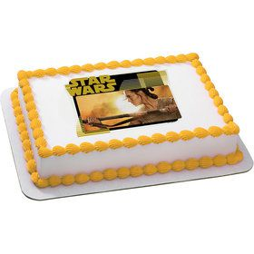 Star Wars Rey Quarter Sheet Edible Cake Topper (Each)