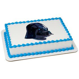 Star Wars-Vader Galaxy Quarter Sheet Edible Cake Topper (Each)