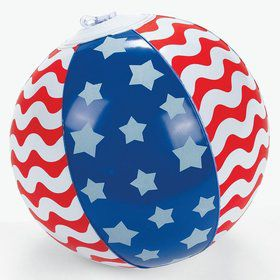 "Stars and Stripes 5"" Beach Ball (12)"