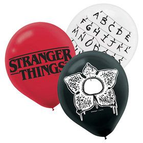 "Stranger Things 12"" Printed Latex Balloons (6ct)"