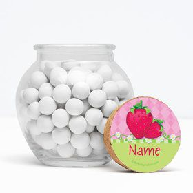 "Strawberry Friends Personalized 3"" Glass Sphere Jars (Set of 12)"
