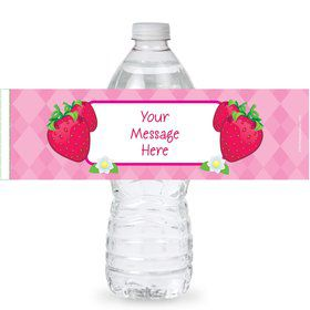 Strawberry Friends Personalized Bottle Labels (Sheet of 4)